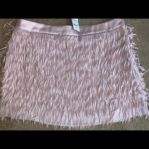 Express Fringe Mini Skirt